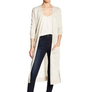 SUSINA Cream Long Sleeve Knit Cardigan
